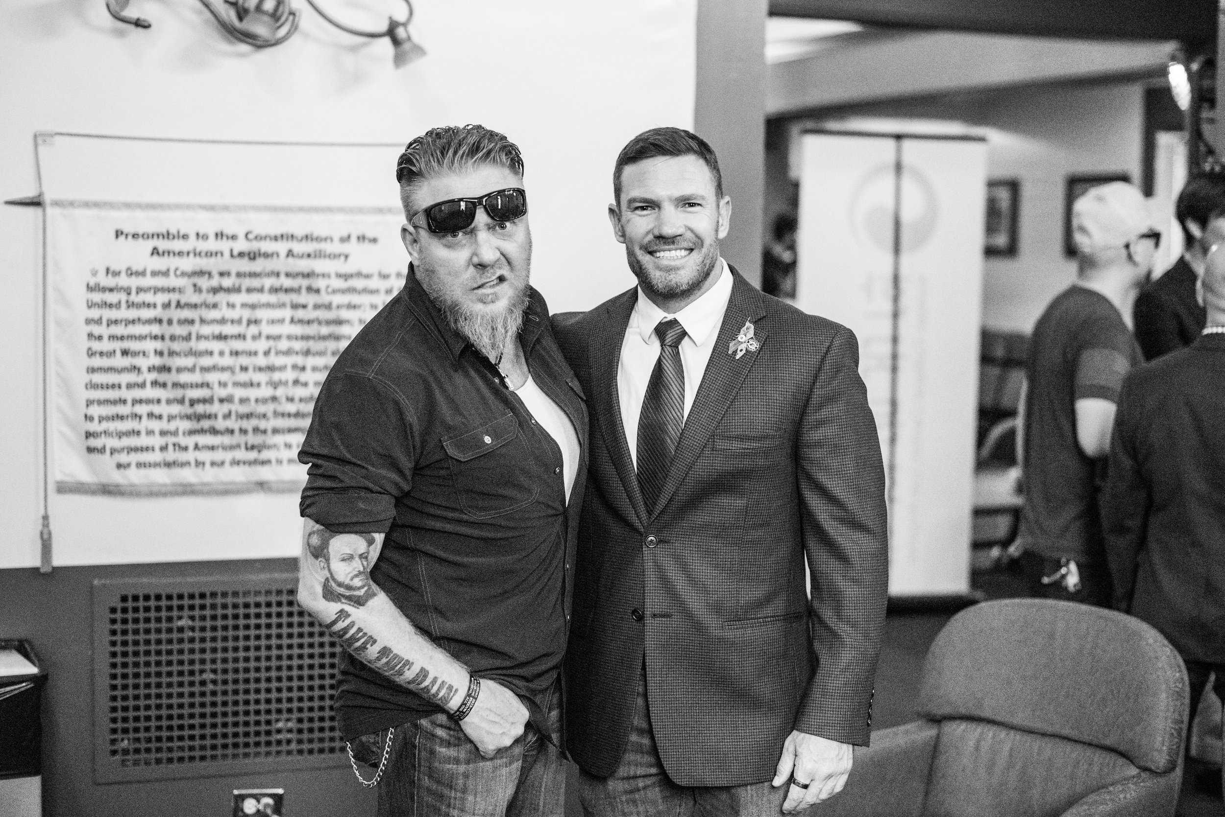 """Nate with Boone Cutler, host of """"Tipping Point"""" a nationally syndicated radio show that highlights veteran issues on a weekly basis."""