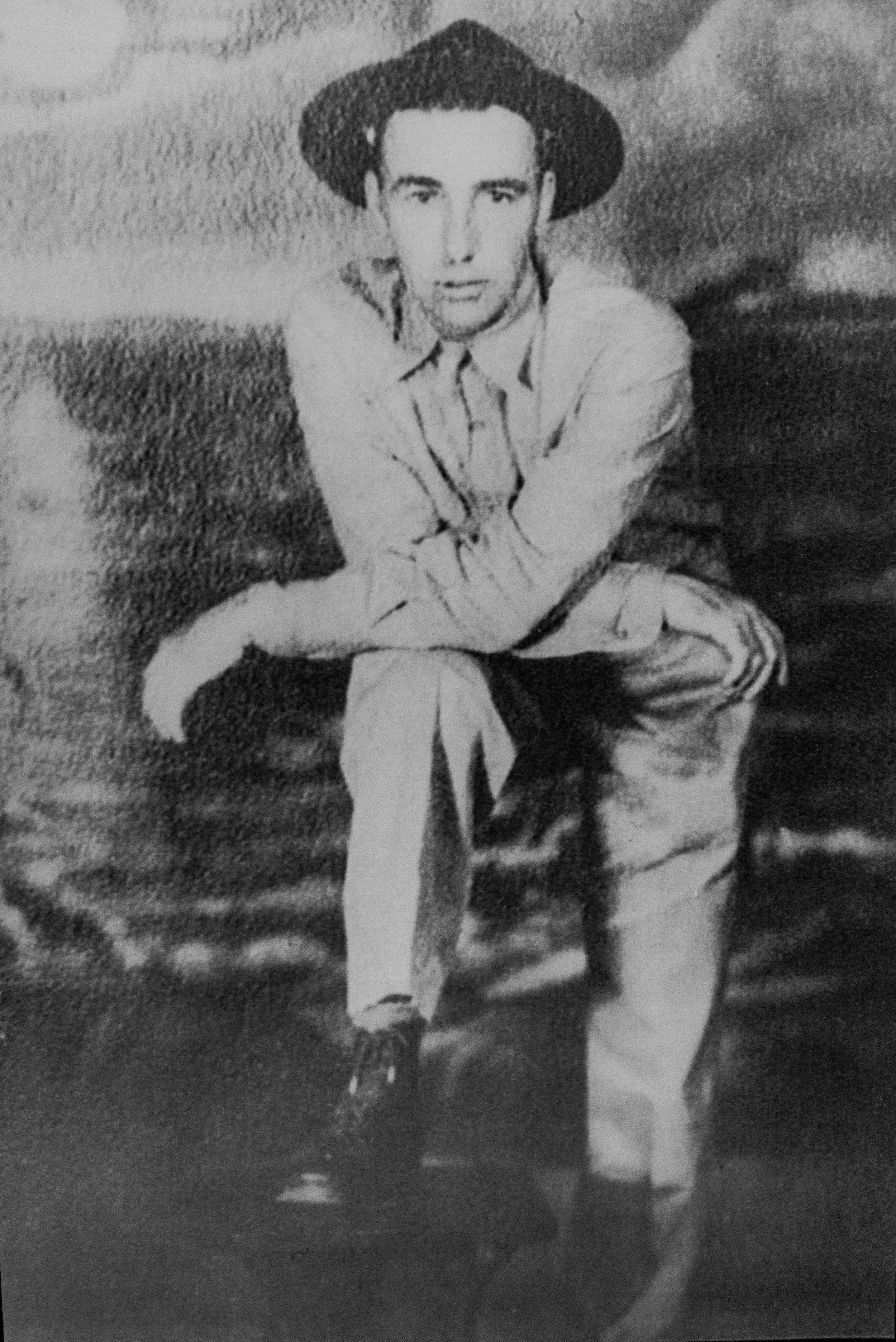 Alfred's brother Claude Haws, shortly before the war. Claude died due to starvation and probably the common diseases that often struck the American captives.