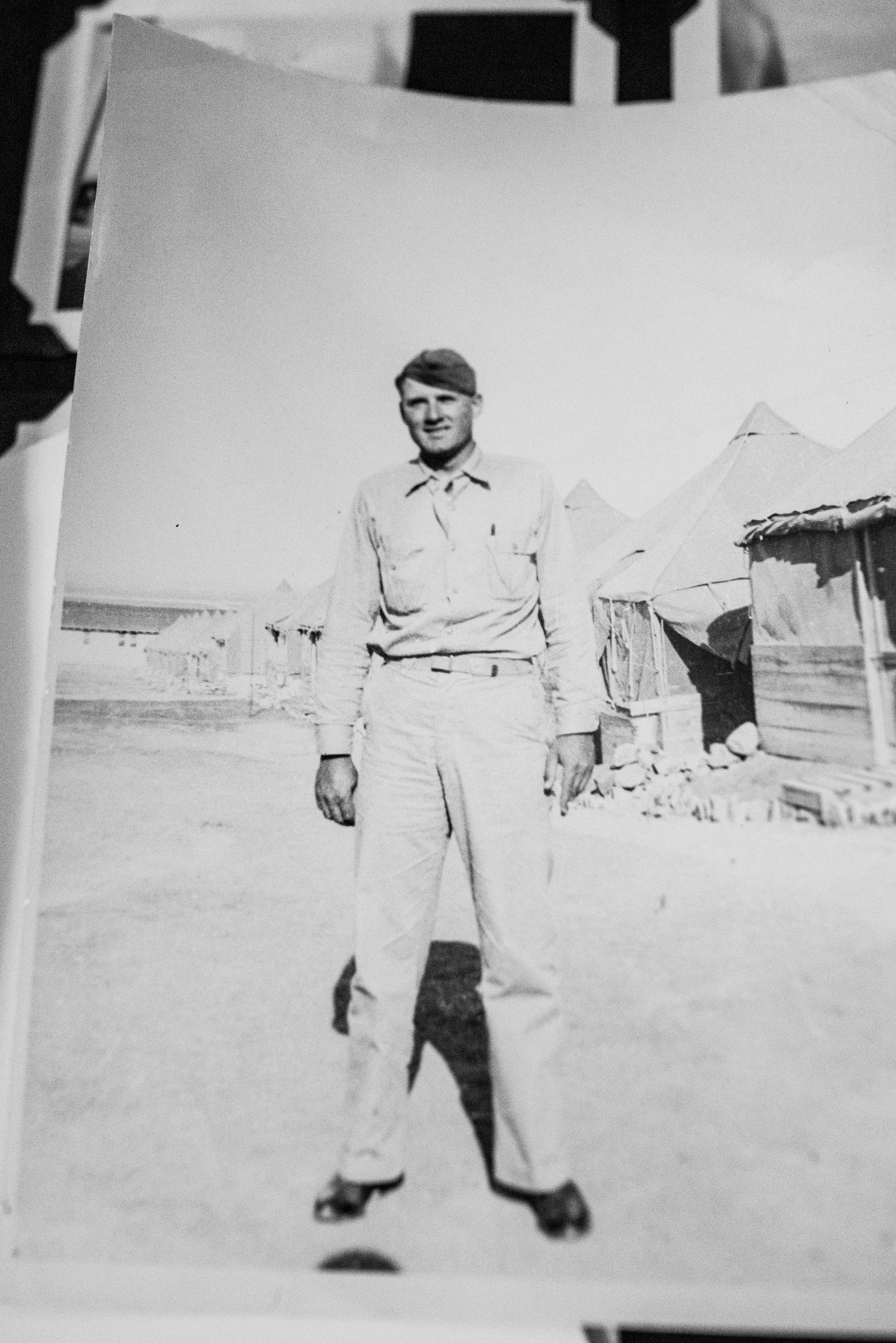 Alfred at Ft. Bliss in 1941, shortly before he left for the Philippines.