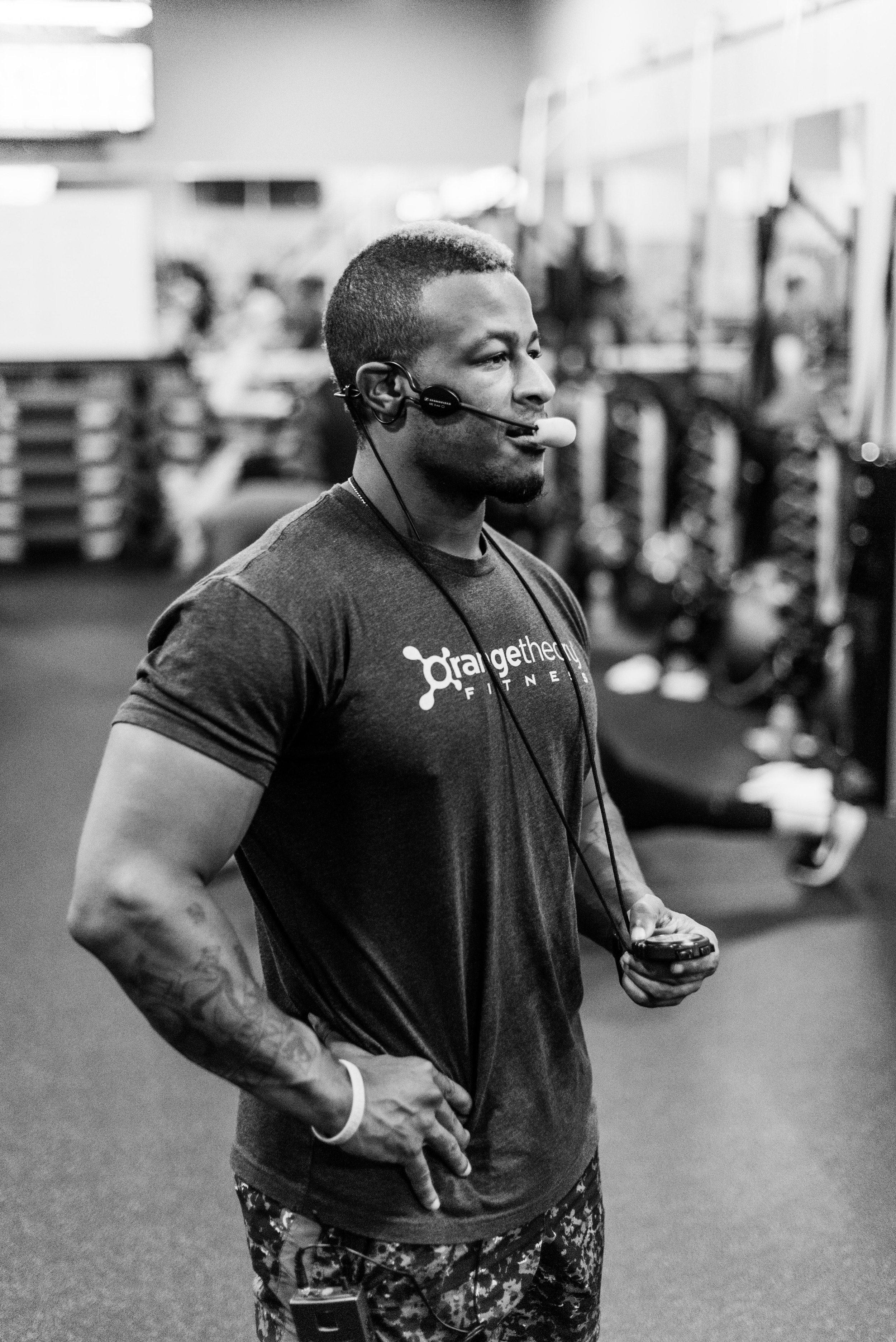Justin works as one of the head trainers at Orange Theory Fitness in Austin.