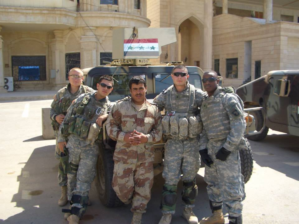 Bohannon, at the time a SPC, on the far right.
