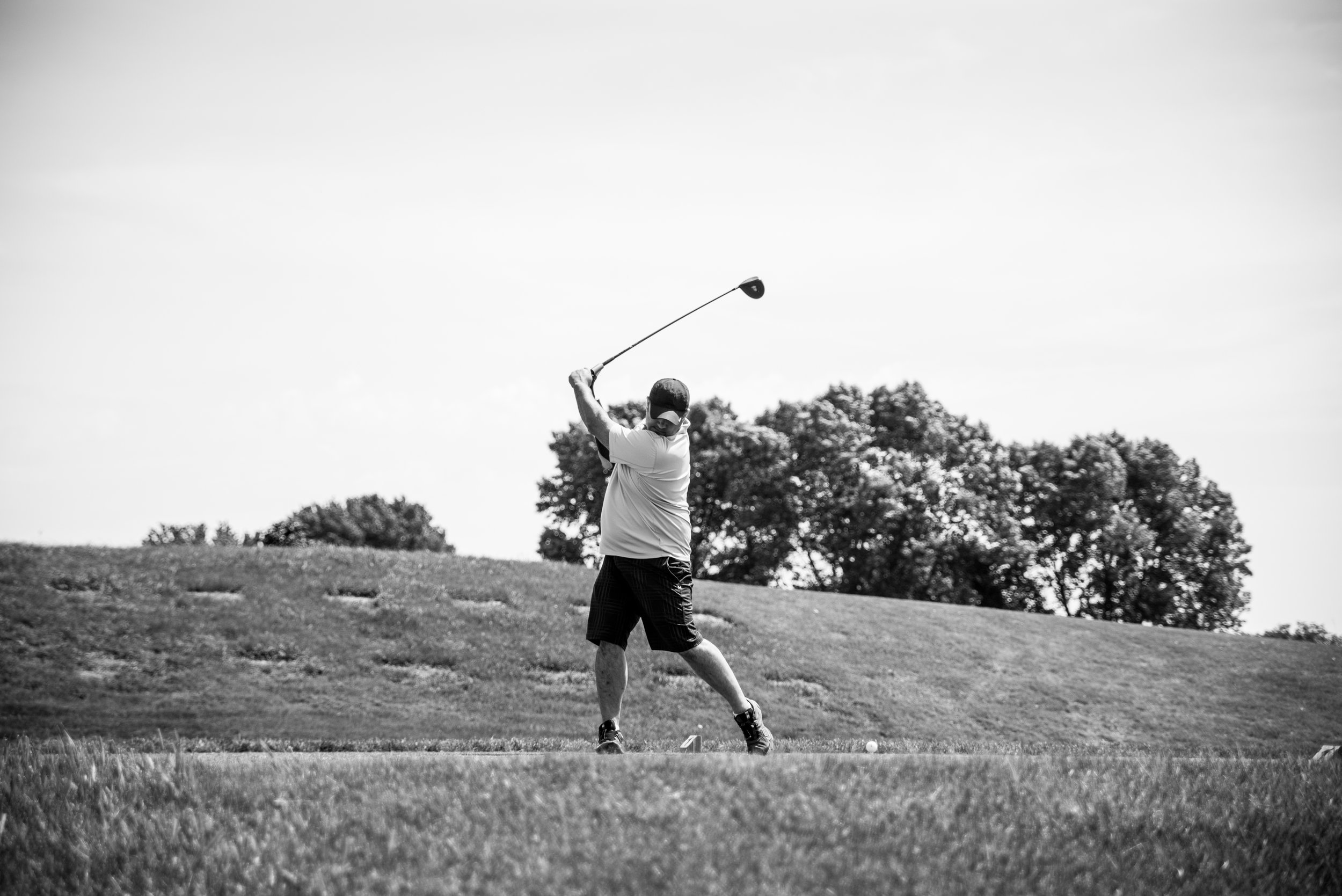 Petry takes a swing at Hazeltine, where he was supporting Warrior Rising and their initiative to help veteran funded startups.