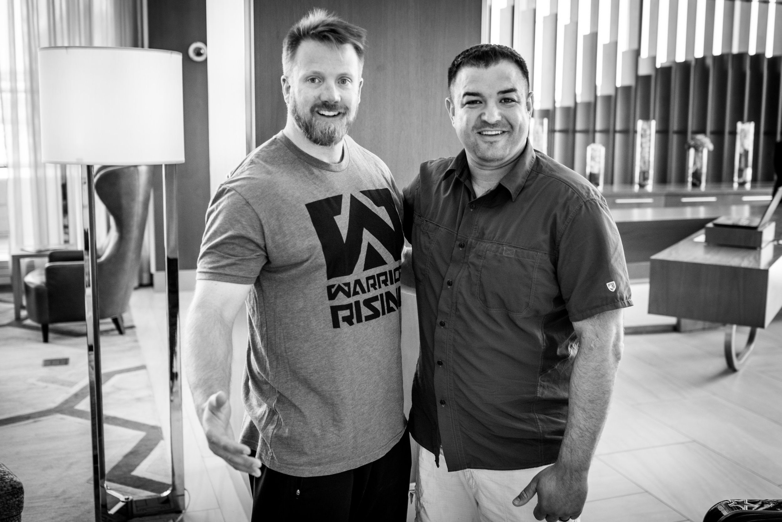 """Petry with """"Warrior Rising"""" founder and executive director, Jason Van Camp."""