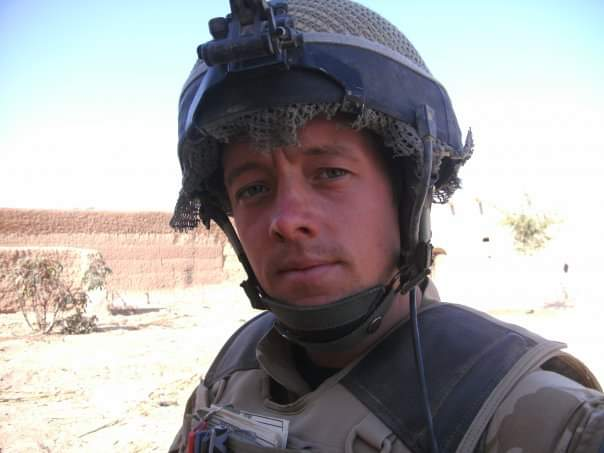 Marc, during one of his tours of Afghanistan.