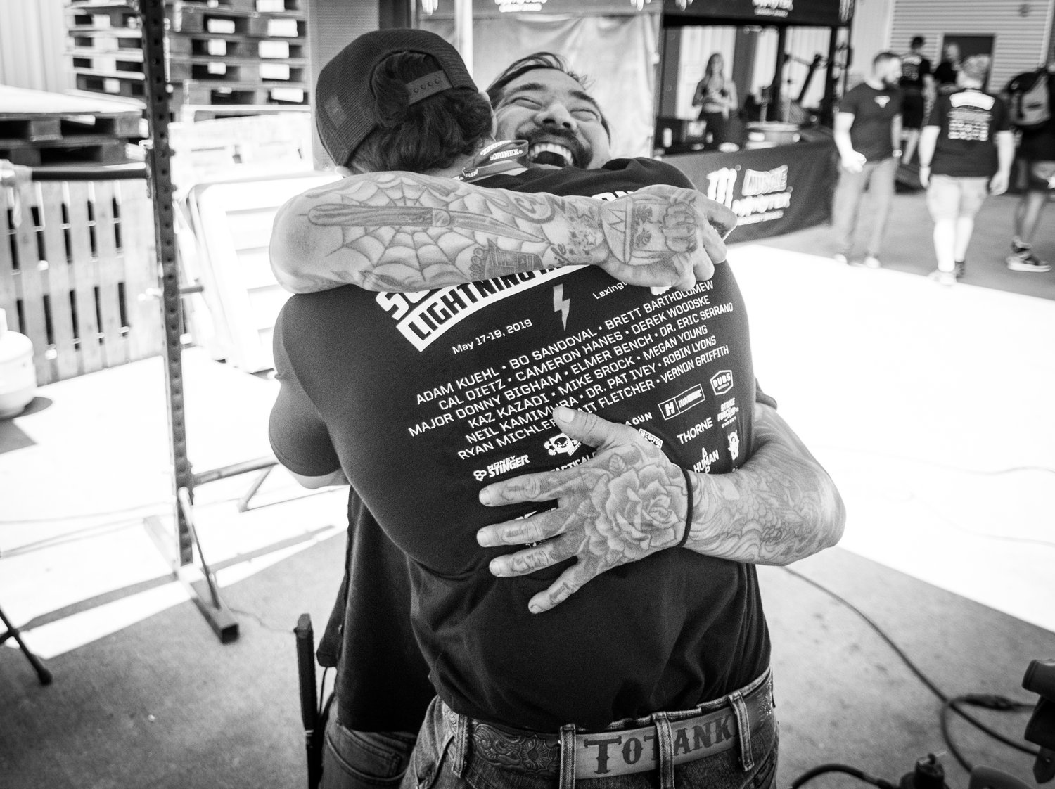 Brady and Neil (IG: @rpm_neil) hug after Kamimura's heart-felt discourse on struggling on his path to finding his passion.