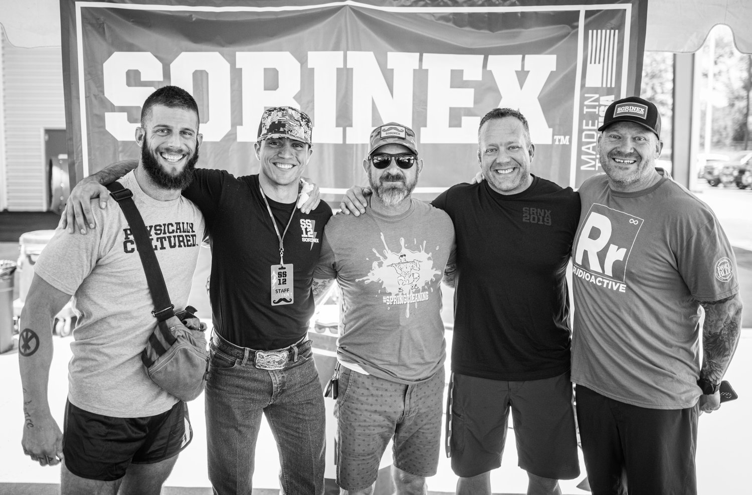 From left to right: Terrence Mitchell (IG: @mitchellstrength), Brady, Duncan Butler (IG: @o_k_a_y_1_2_0_2), John Folkert (IG: johnfolkert959), Derek Woodske (IG: @derekwoodske).