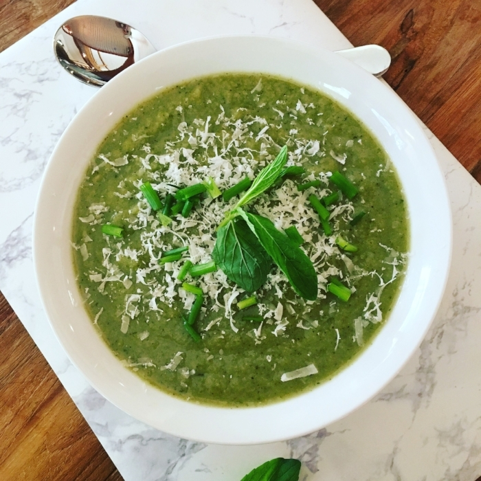 Cleansing, Creamy and Comforting Green Soup