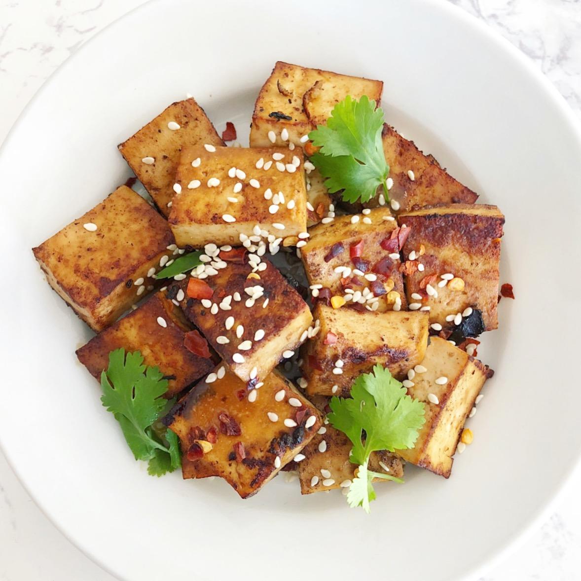 Garlic and Ginger Marinated Tofu