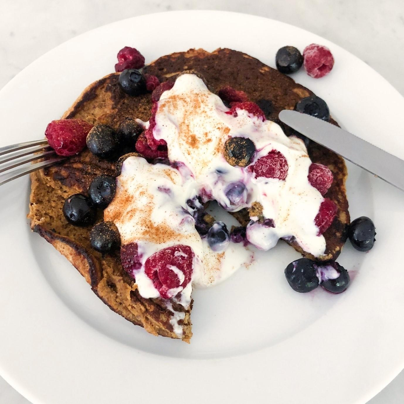 Low carb Vanilla Pancake 1