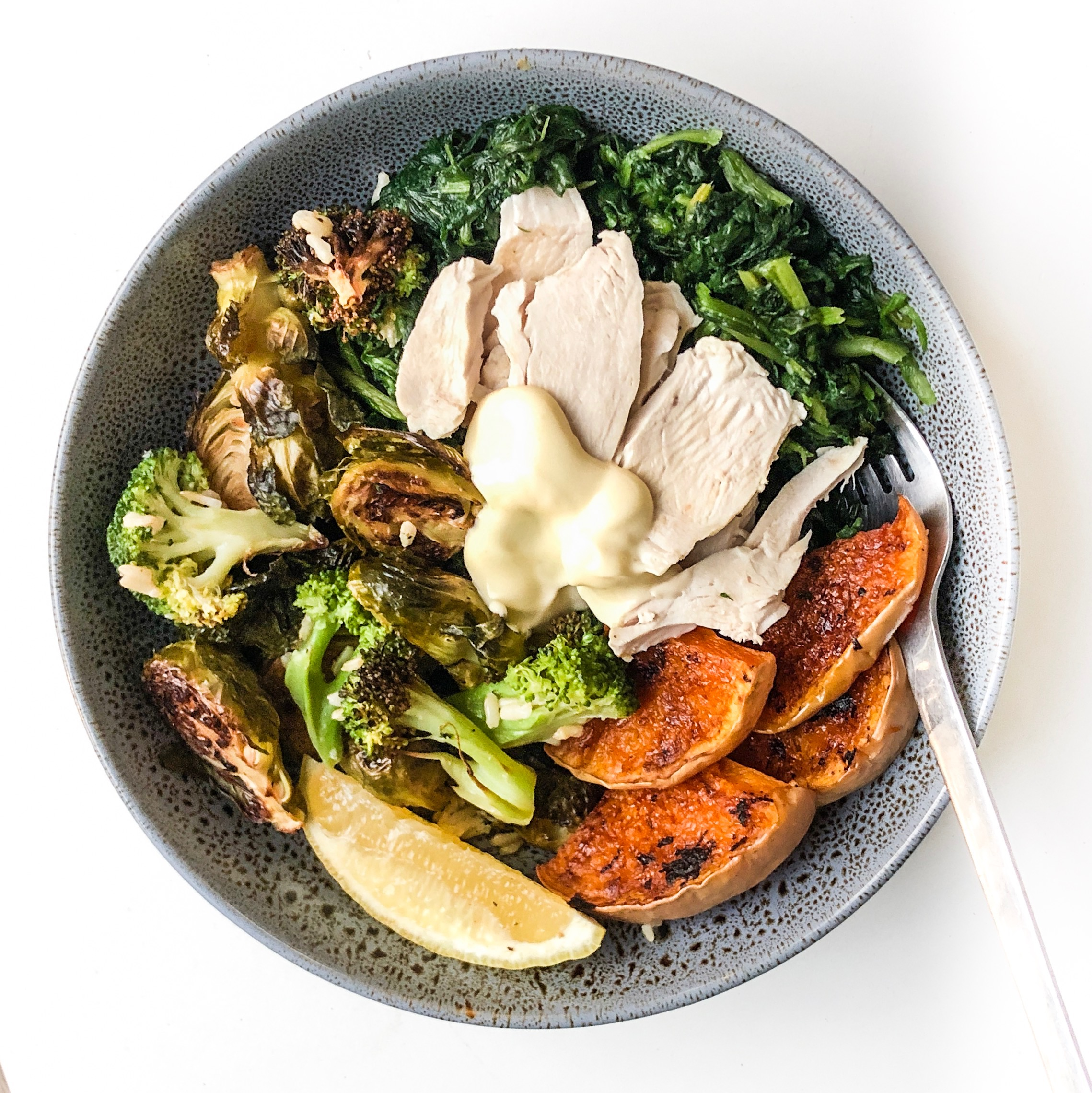 Easy Poached Chicken Nourish Bowl