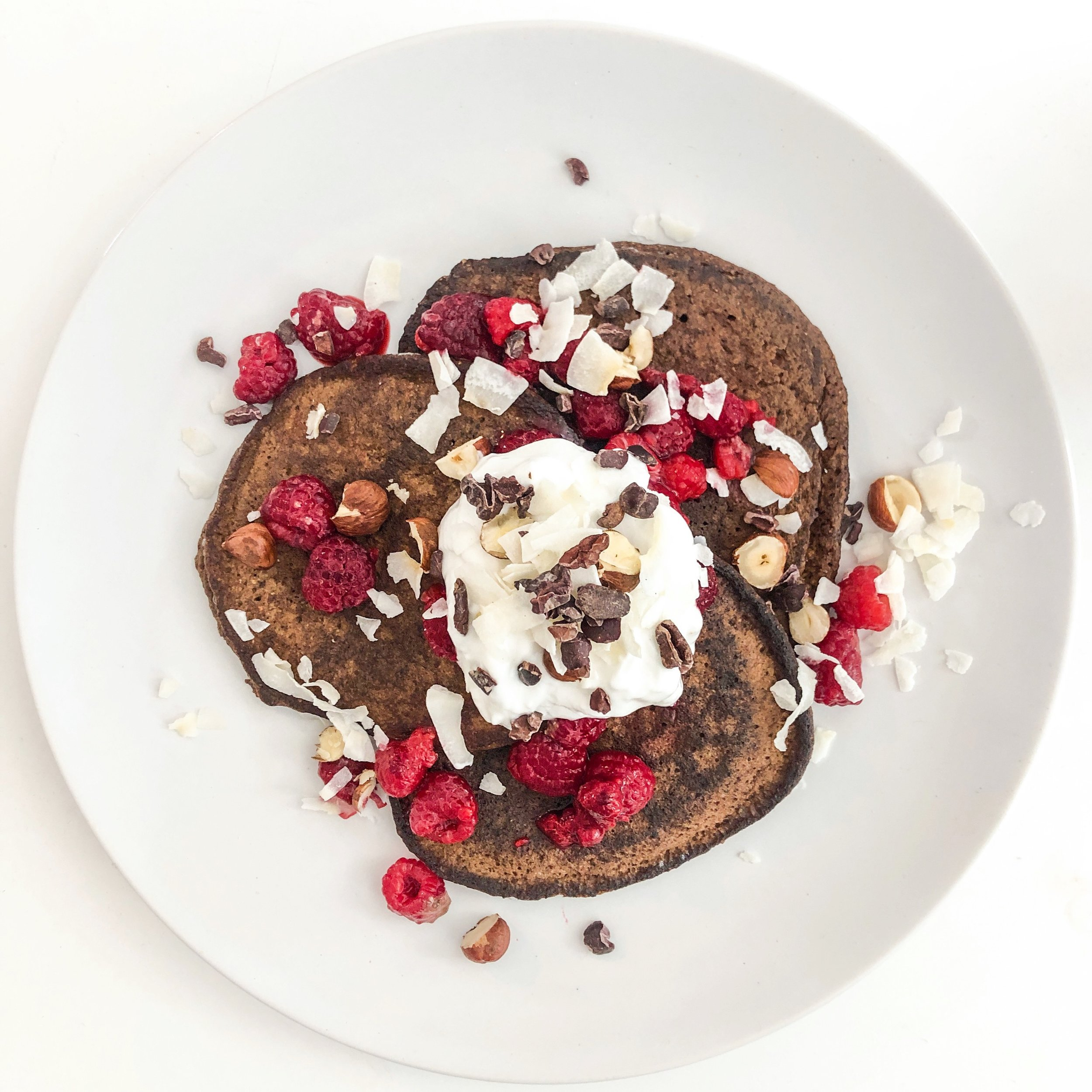 Low Carb Chocolate Pancakes