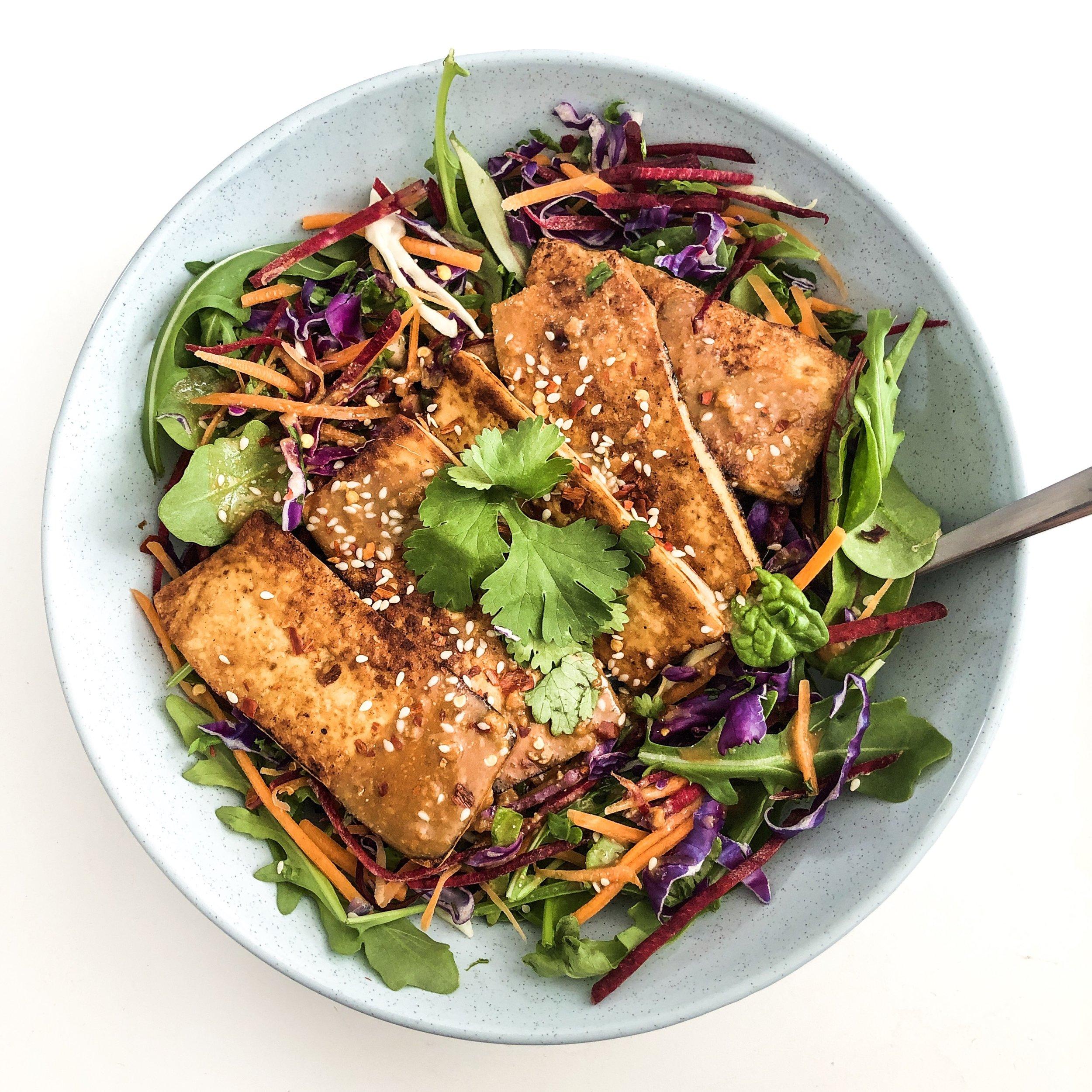 10 Minute Vegan Miso Salad