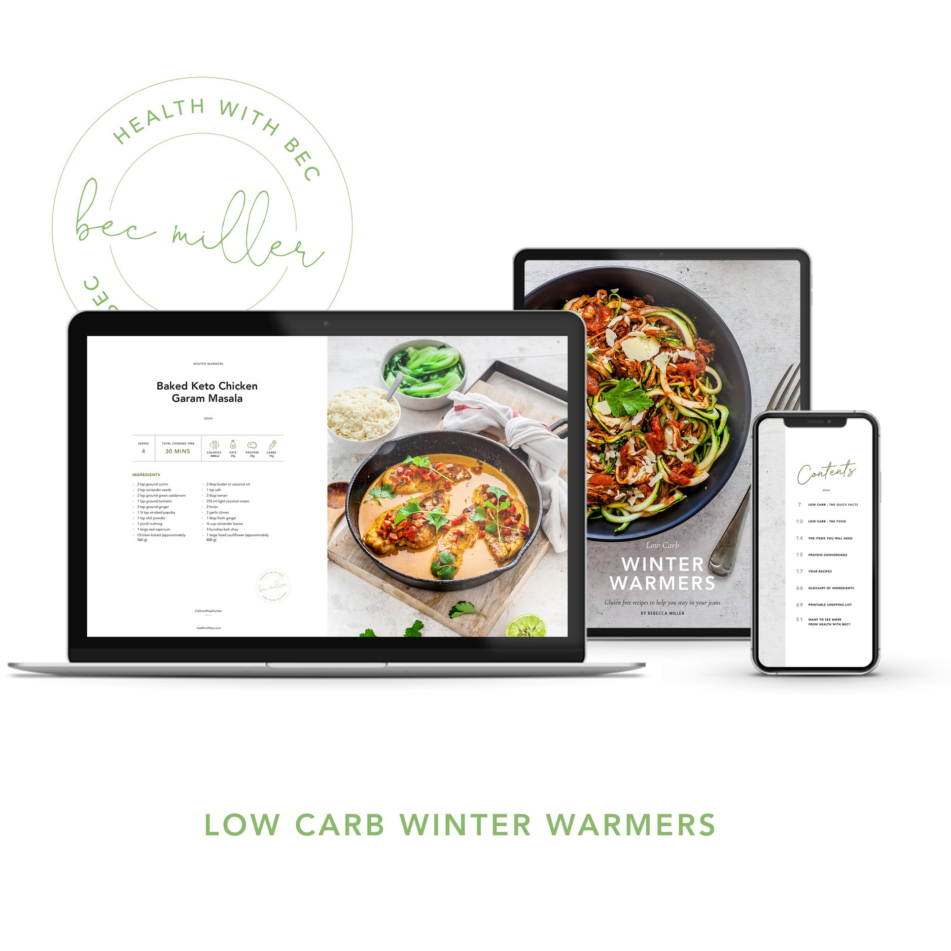 Shop: Low Carb Winter Warmers eBook $19.95 -