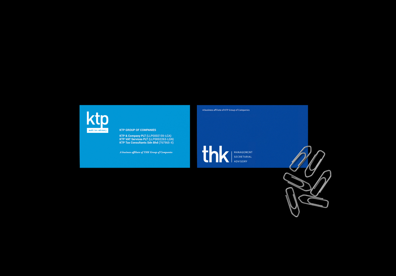 KTP & COMPANY / THK Re-identity, stationaries, website and social.