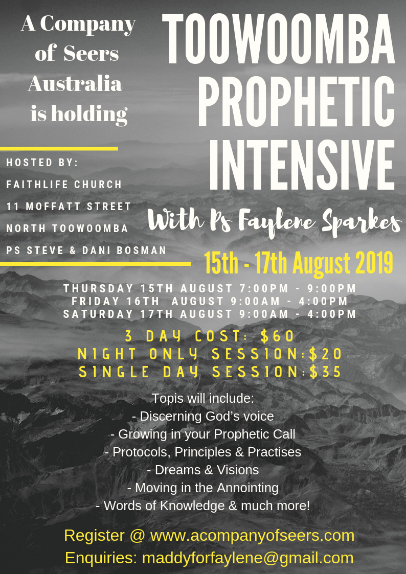 Prophetic Training & Events — Australian Company Of Seers