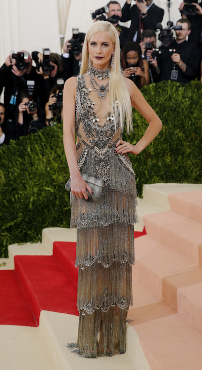 Poppy Delevingne in Marchesa