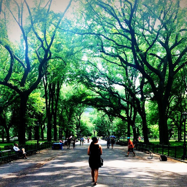 A Central Park stroll is always a good idea.