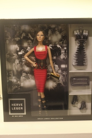 Herve Leger by Max Azria Barbie is available exclusively at Neiman Marcus