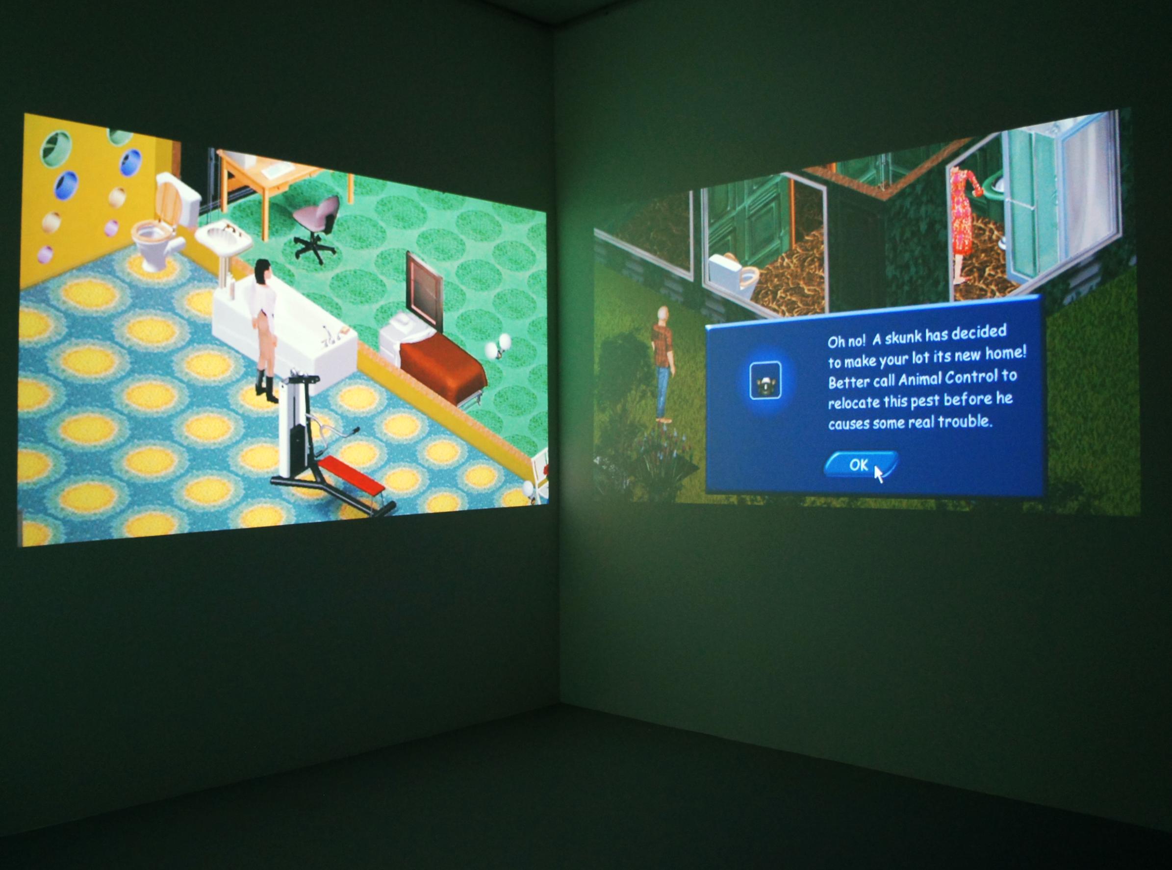 Angela Washko,  Free Will Mode,  2013-2014, still from installation