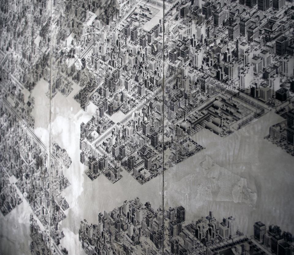 Marco Mendeni,  CimSity , digital processing on concrete, 2013