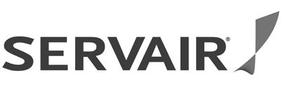 Servair logo (B&W).png