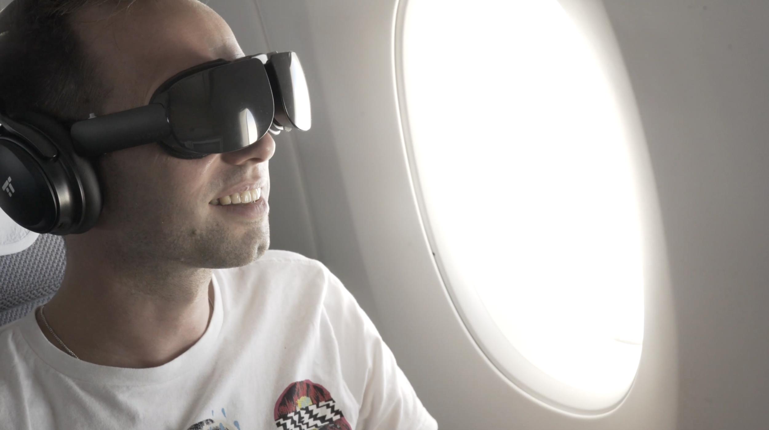 Passenger onboard Lufthansa Flying Lab