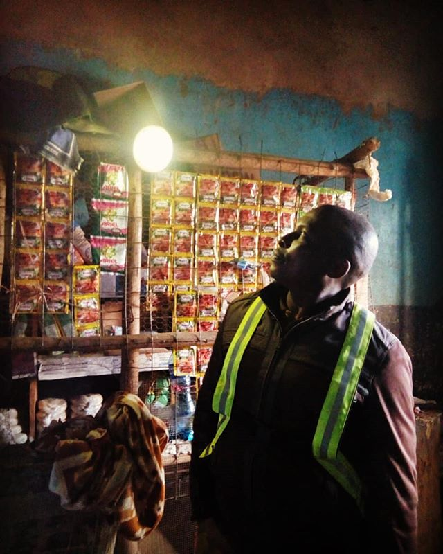 "Ben Rodgers is a shop owner and bought a solar lamp almost two years ago. ""The lamp has been very essential for my business and I like how I can adjust it's brightness"" he said. At home, the solar lamp is used when carrying out household chores.  Ben has recommended this solar lamp to many of his friends as he can vouch for it's quality.  #impact #grid #business #solarenergy #Africa #Kenya #photooftheday📷"