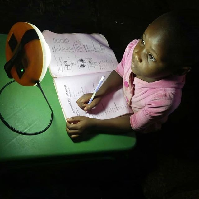 Ciara Kimanzi is a second grade pupil at Central Primary School in  Kitui. Her favorite subject is Math and she enjoys doing her homework and studying even more ever since she started using the solar lamp.  #impact #children #study #education #Africa #solarenergy  #photooftheday📷