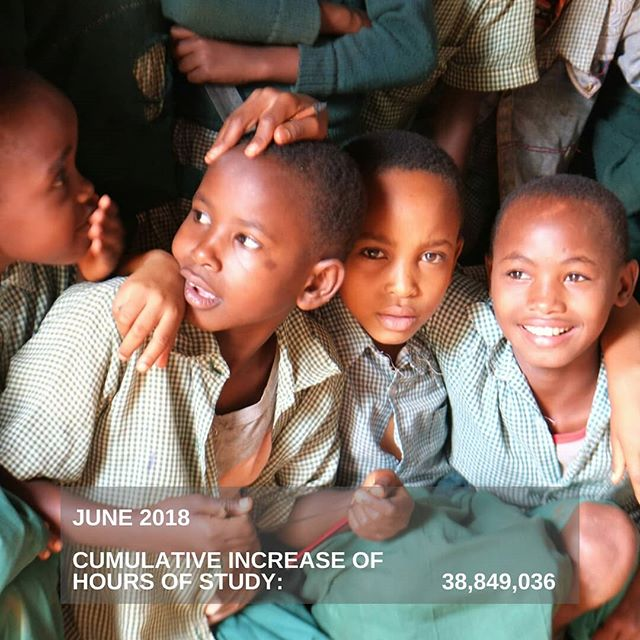 The more schools we reach, the more children can increase their study time through access to clean and safer lighting.  #impact #children #reading #cleanenergy #betterhealth #change #globalimpact #Africa #photooftheday📷