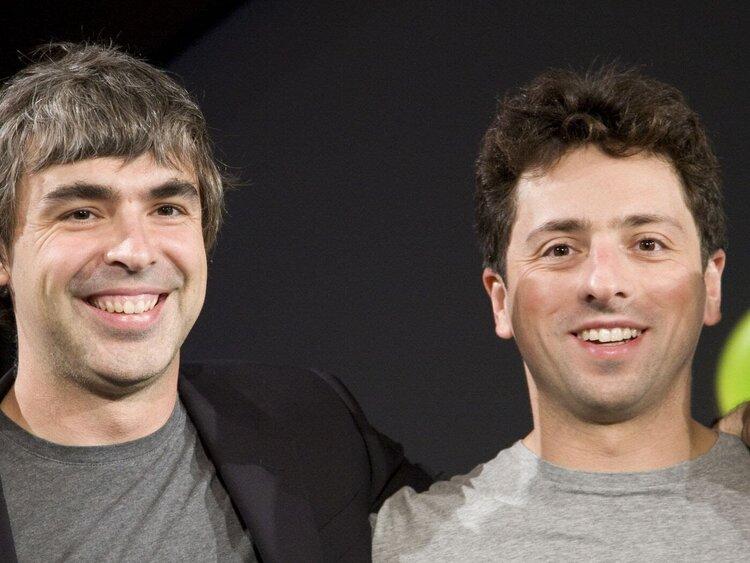 Larry Page & Sergei Brin Oprichters van Google en initiators van Google.org..Founders of Google en initiators of Google.org