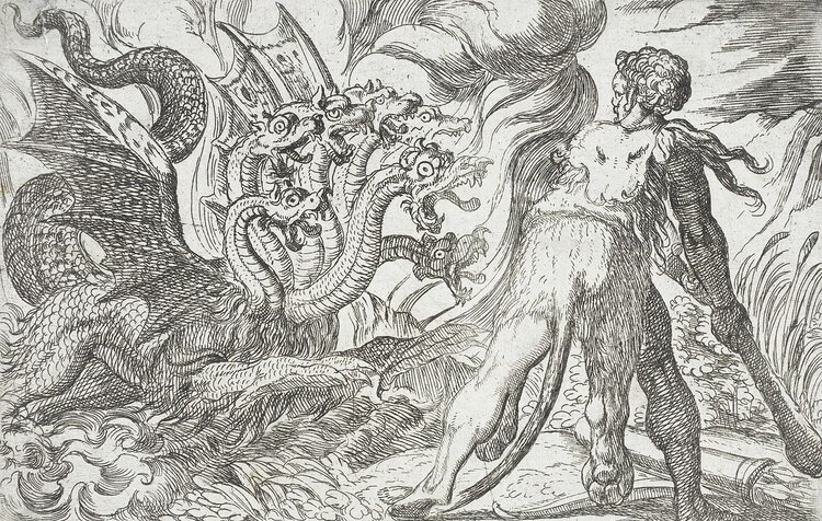 Hercules and the Hydra of Lerna — Los Angeles County Museum of Art, Public domain, via Wikimedia Commons