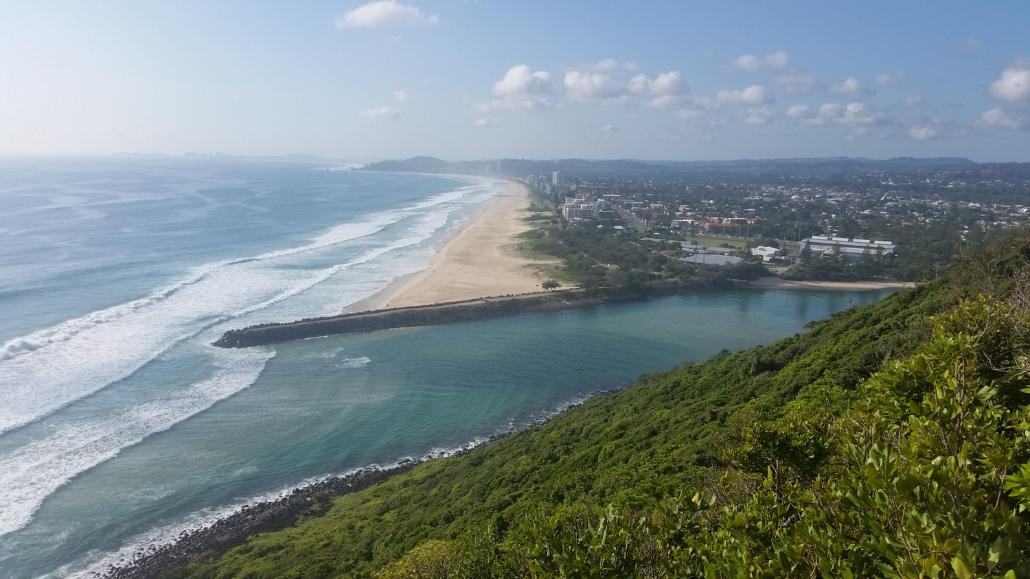 Southern view from the summit of Burleigh Head National Park