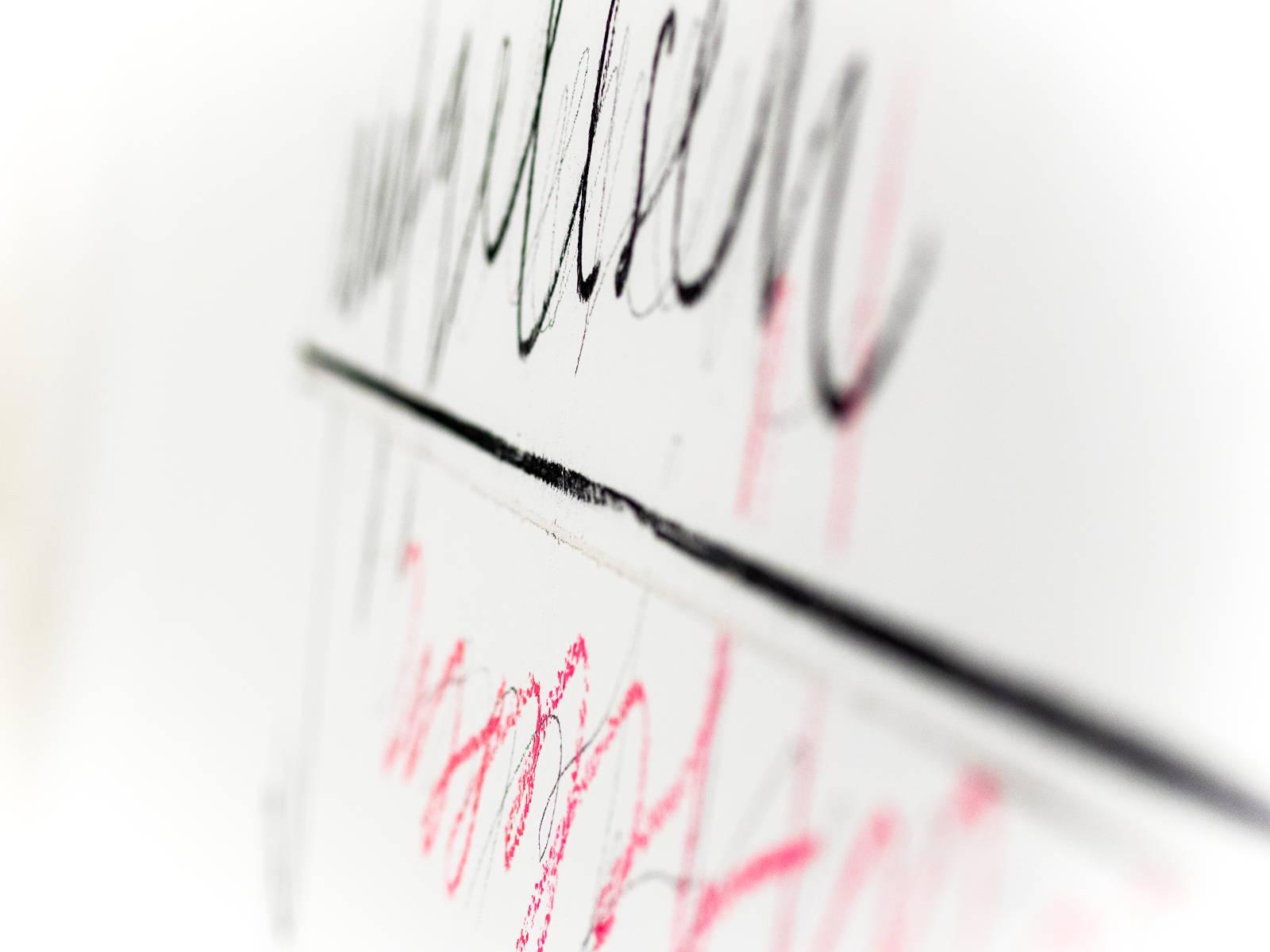 Wall drawing, Lothar Baumgarten - Closeup - Antiquariat Marco Gietmann, Berlin