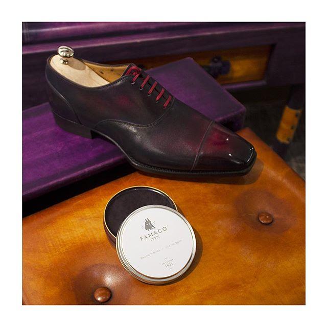 🇫🇷 : Beau mais intense 💄 🇬🇧 : Beauty lies in intensity -  Avez-vous déjà découvert le Beaume Intense de notre collection 1931 ? Ici sur une paire de @jmlegazel.  #famacoparis #madeinfrance #leathercosmetics #leather #cuir #intense #chaussures #shoes #shoeslovers #entretienducuir #art