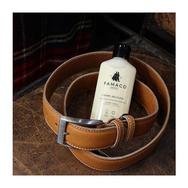 🇫🇷 : Se desserrer la ceinture 🤩 🇬🇧 : Loosen the belt - Notre crème délicate s'applique sur tous types de cuirs : n'oubliez pas de nourrir vos ceintures.  Photographié ici chez @atelier_beaumarchais_ #famacoparis #madeinfrance #leathercosmetics #leather #cuir #chaussures #shoes #shoeslovers #entretienducuir #art #ceinture