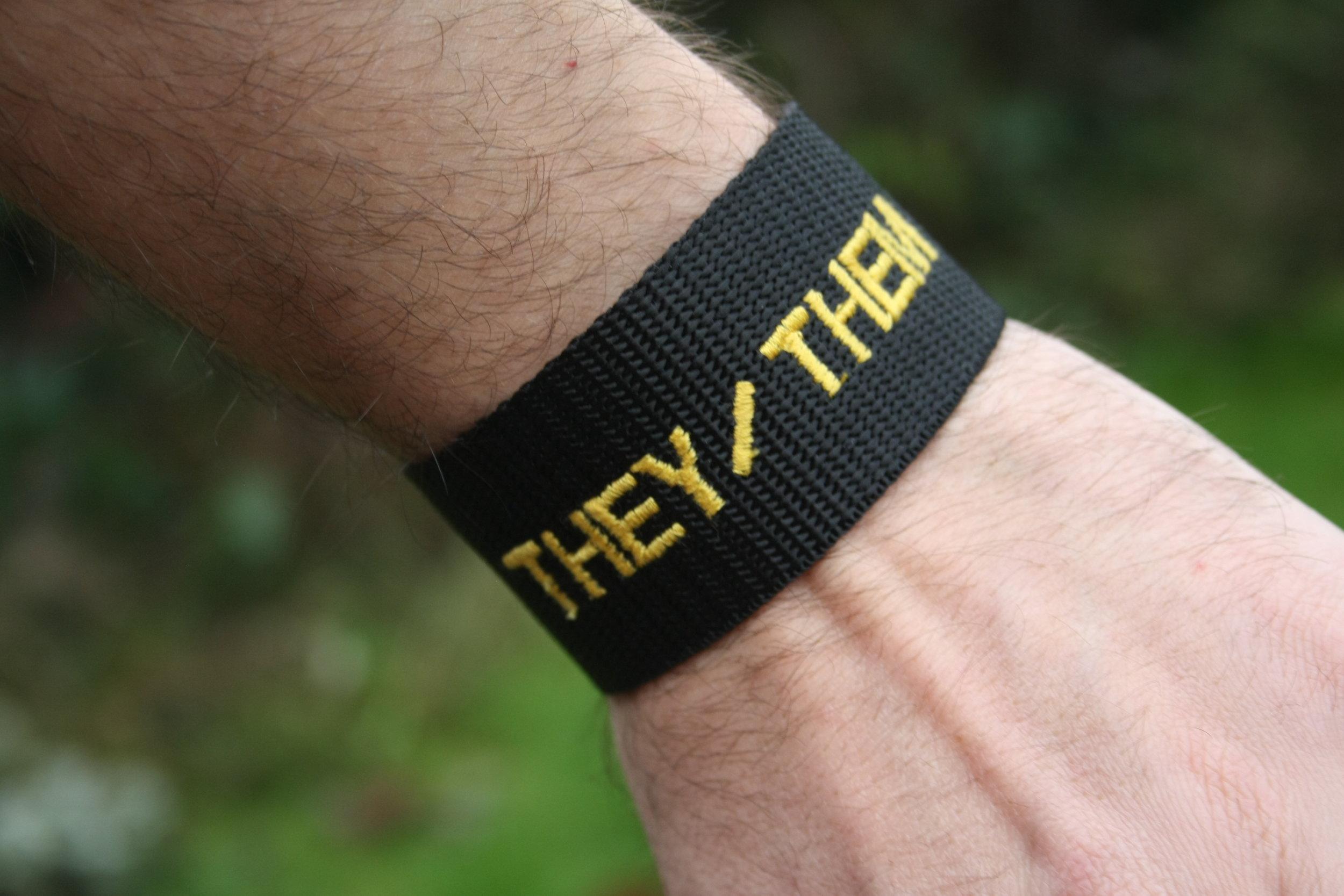 Pronouns Wristband