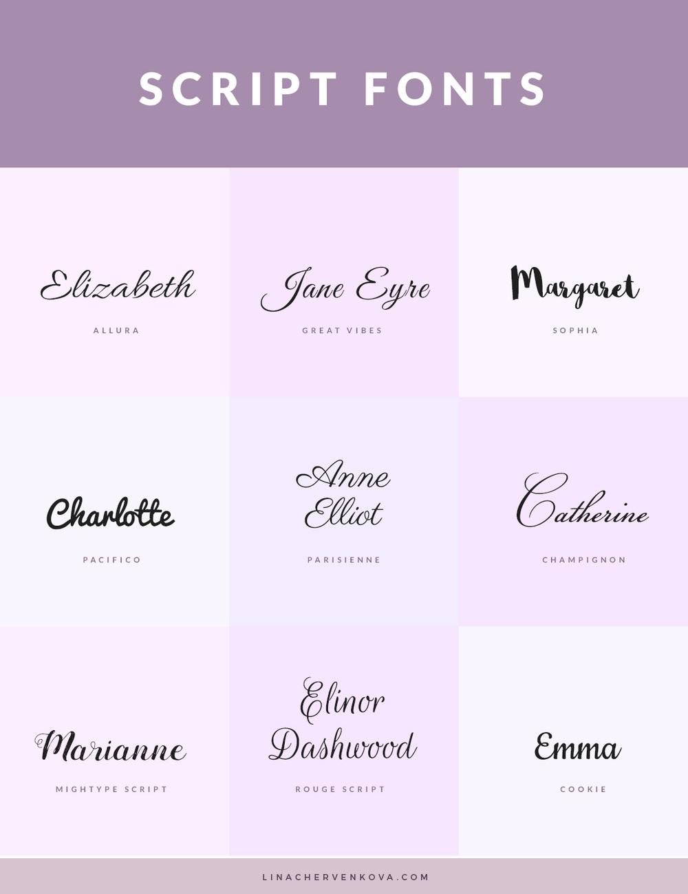 9 Free Script Fonts — Lina Chervenkova
