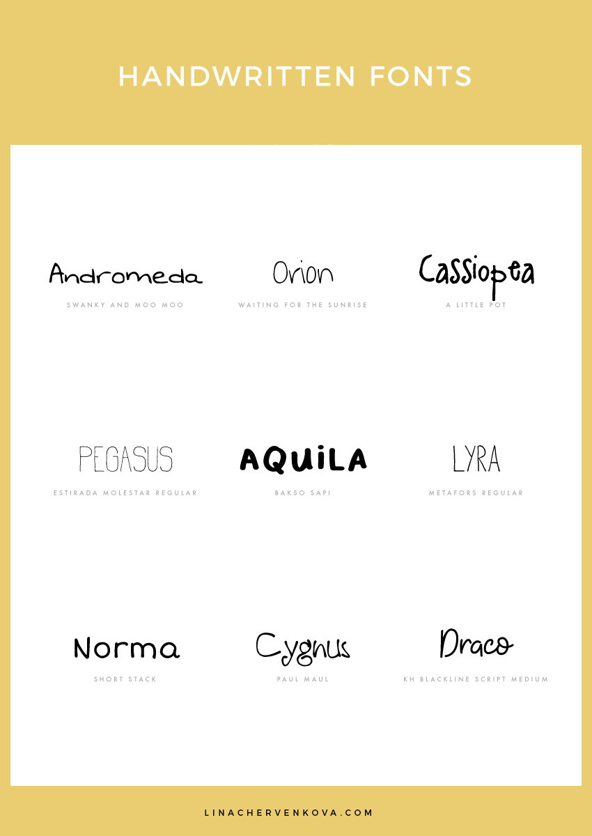 9 Free Handwritten Fonts | linachervenkova.com