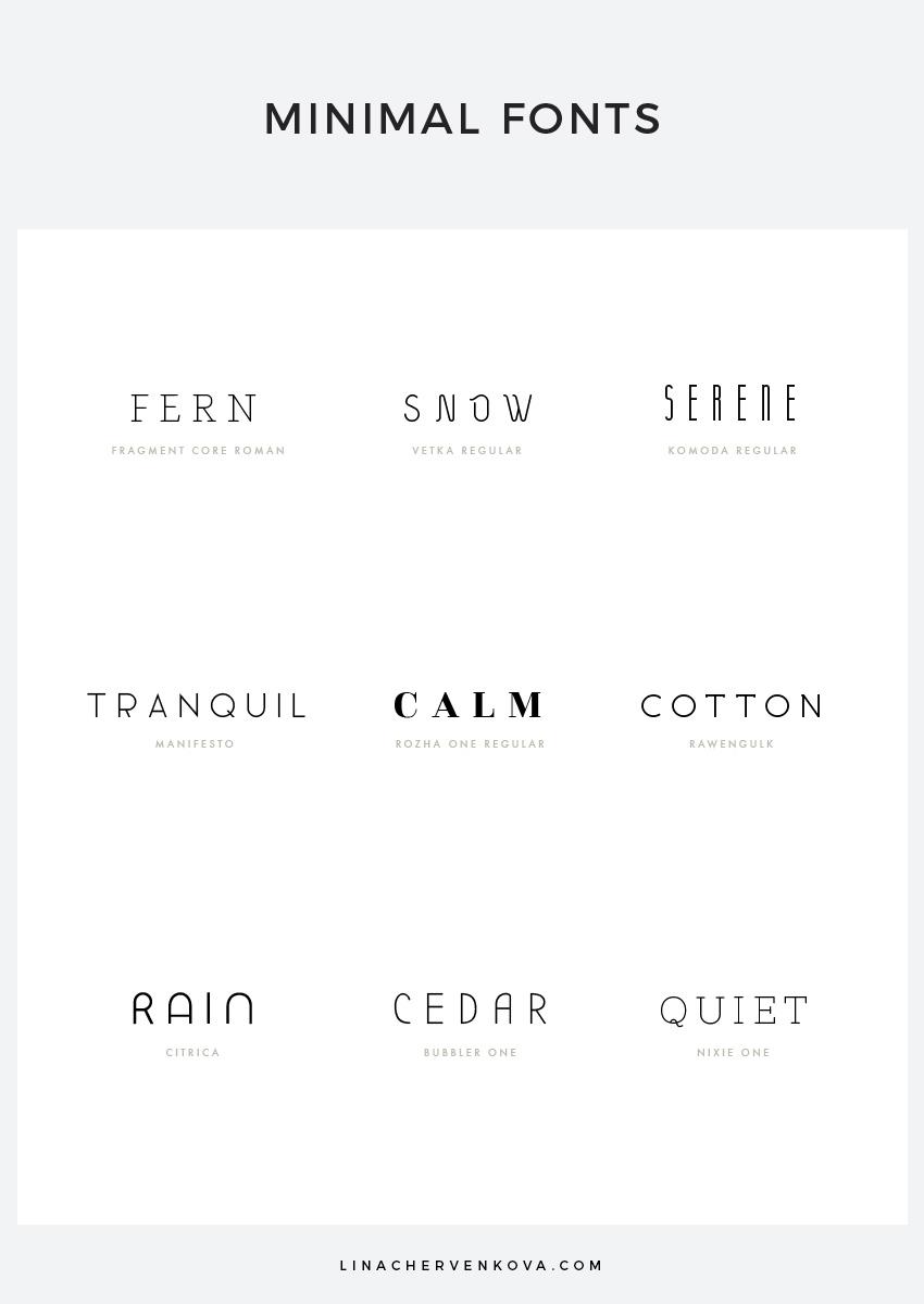 9 Free Minimal Fonts | linachervenkova.com