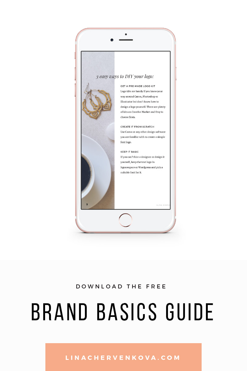 Ready to start and brand your dream business? — download the free Brand Basics guide | linachervenkova.com