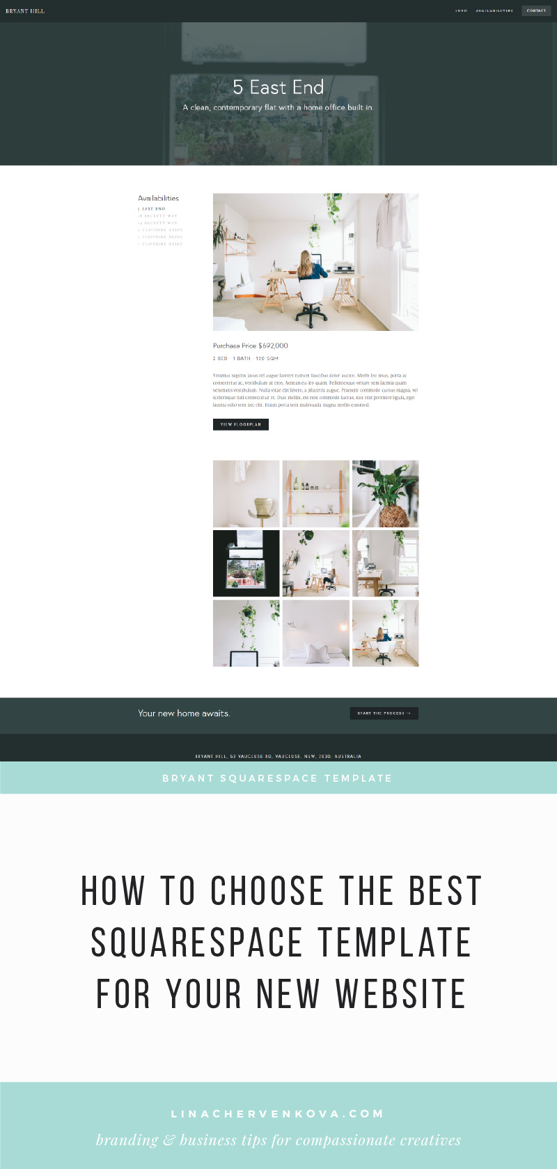 How to choose the best Squarespace template for your new website | linachervenkova.com
