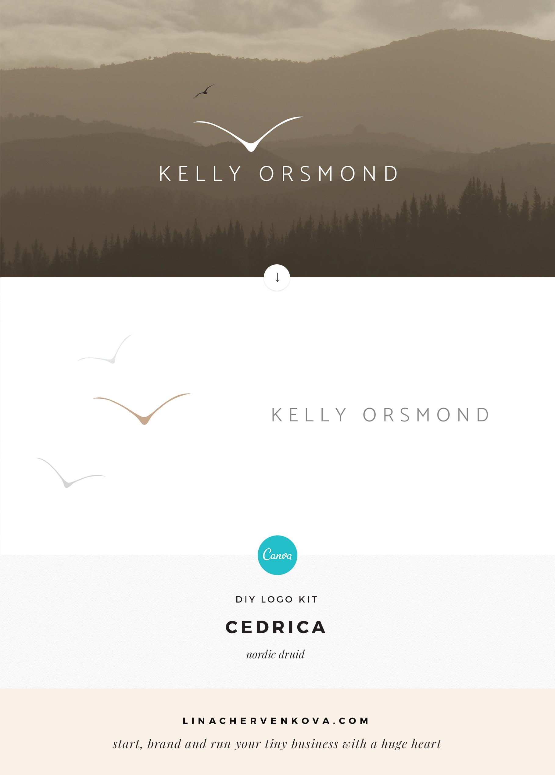 All the tools you need to design a simple and elegant logo yourself — 7 DIY Canva Logo Kits | linachervenkova.com/logokits