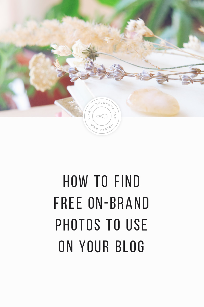 How to find free on-brand photos to use on your blog | linachervenkova.com
