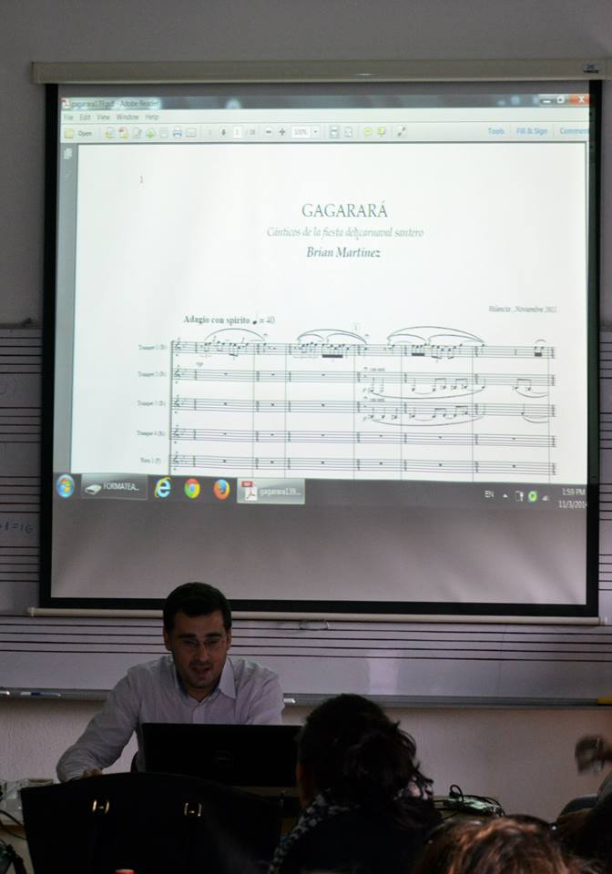 Very nice audienceat the masterclass about my music (University of Arts).