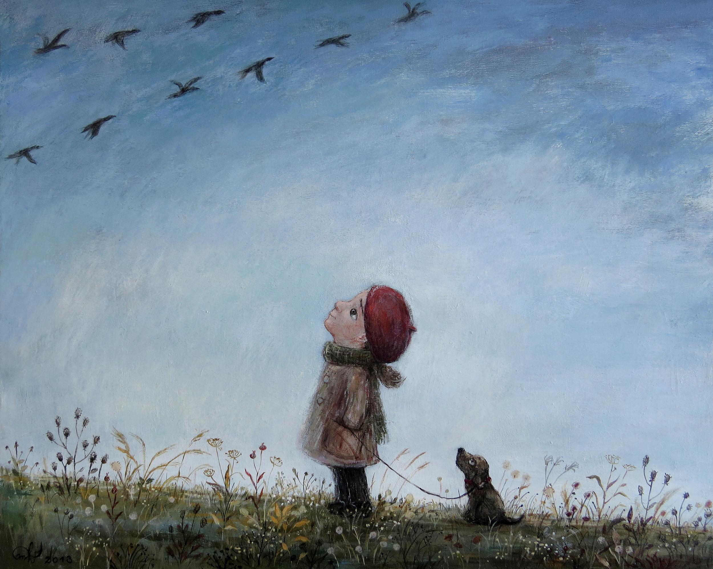 11. გადაფრენა 2013, ტილო, აკრილი Flight of Birds 2013, Acrylic on canvas.jpg