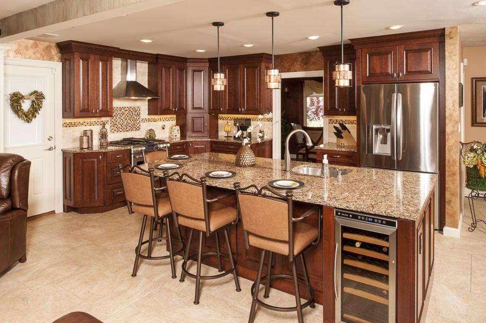 cherry-cabinets-wine-fridge-full-height-cabinets