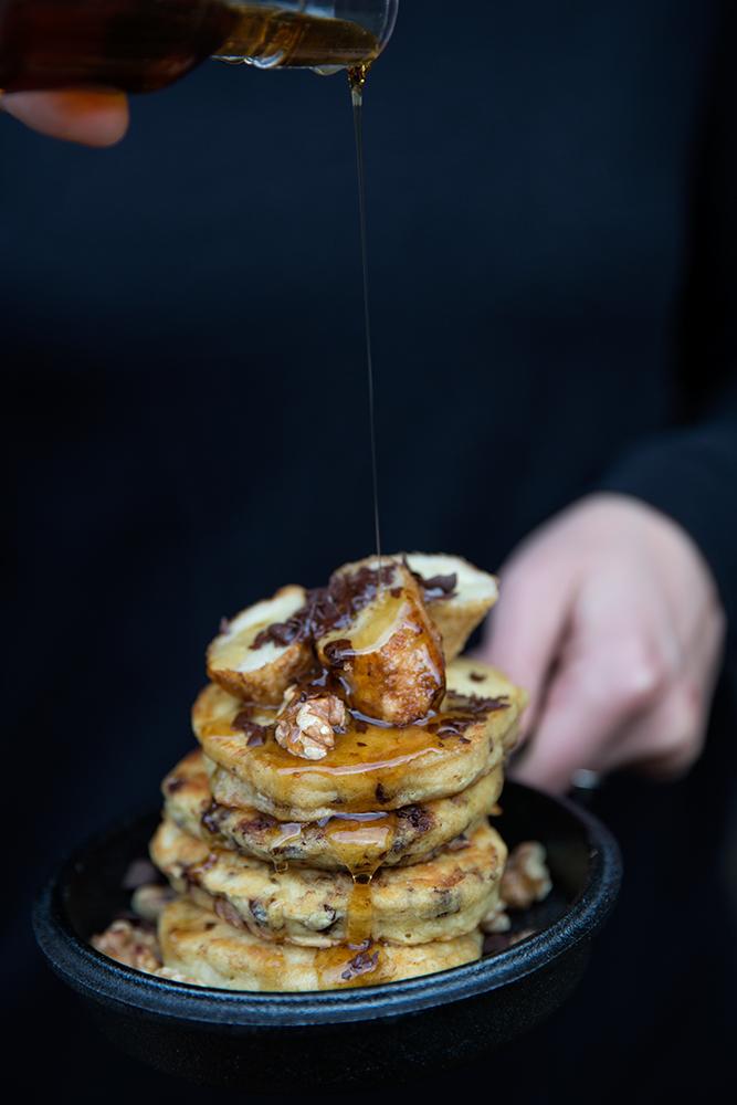 Det blir bara pannkaka - amerikanska pannkakor - chocolate chip pancakes