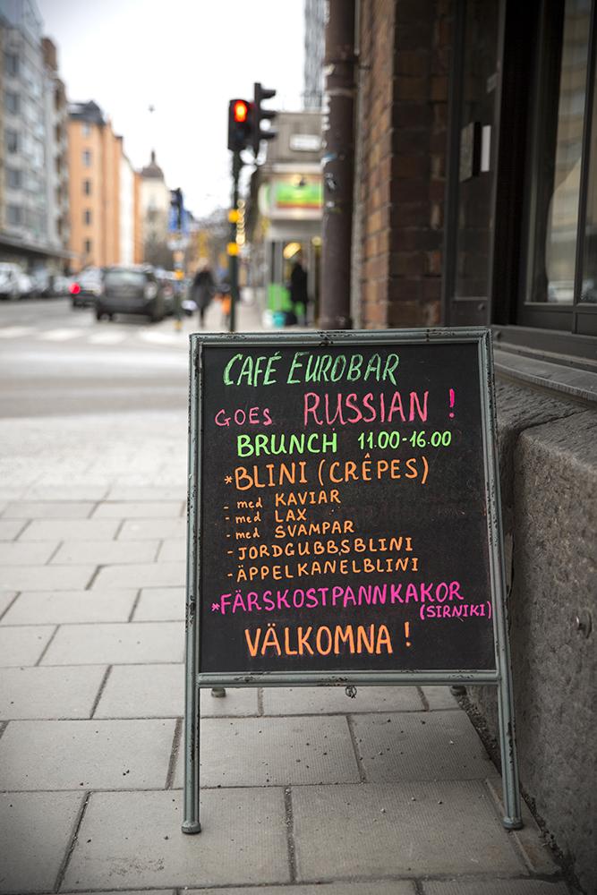 pannkakor, Det blir bara pannkaka, Cafe Eurobar, blinier