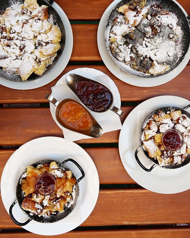 I went to Vienna and all I did was eat pancakes. Amazing traditional Austrian Kaiserschmarrn! A fluffy, scrambled pancake, traditionally served with apple sauce and raisins or plum sauce. At Heindl's Schmarren & Palatschinkenkuchl they have plenty of different varieties, also different styles of pancakes. A must for any pancake lover in Vienna. The interior and clientele was lovely as well!