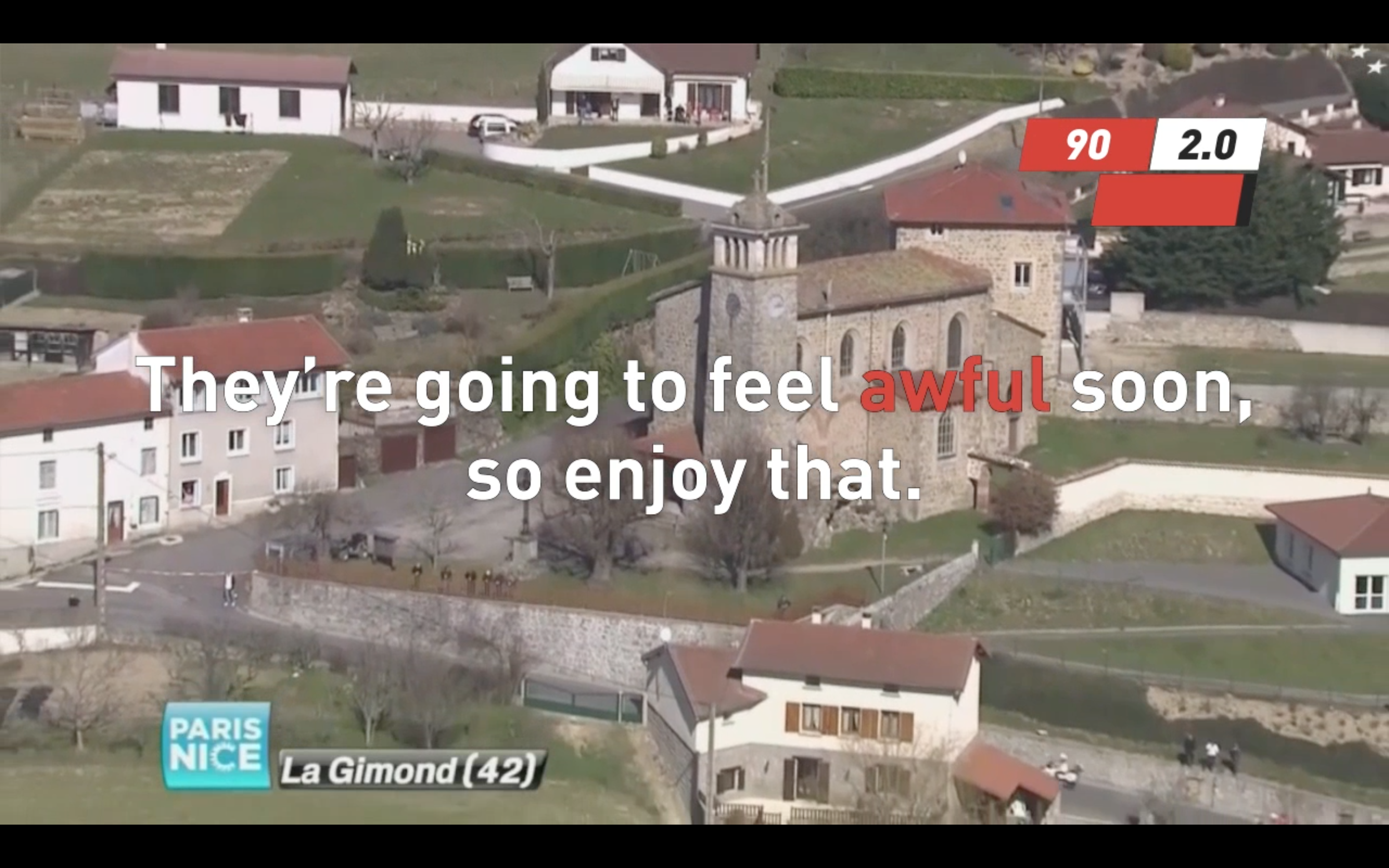 Screenshot of the new Downward Spiral. Here is a comment on how your legs will feel shortly.